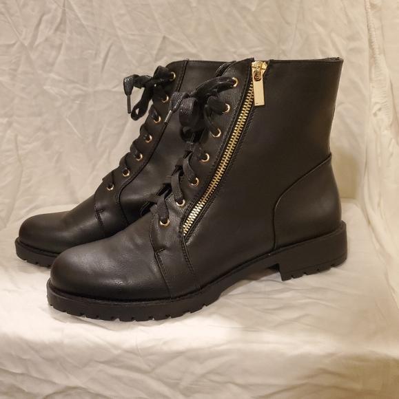 Shoe Dazzle Shoes - Shoe dazzle Lucy boots, size 9, black, zip, NWOB